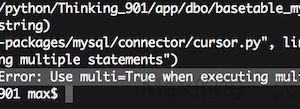 python mysql connector errors InterfaceError: Use multi=True